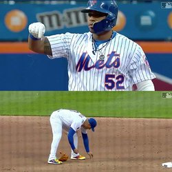 Diamonds Rain on the Diamond as Slugger Yoenis Cespedes Snaps His Chain Legging Out a Double