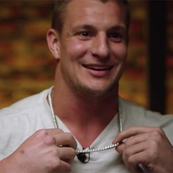 Giddy Rob Gronkowski Dishes About His Brand New Diamond Chain: 'I Love This Puppy'