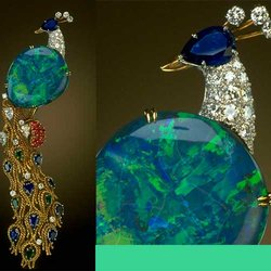 'Opal Peacock' Brooch Showcases One of the Finest Examples of October's Birthstone