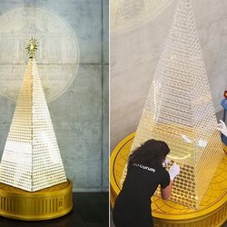 Europe's Most Expensive Christmas Tree Glistens With 2,018 Solid Gold Coins